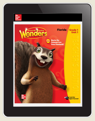Reading Wonders Florida Student Workspace 5 Year Subscription Grade 1