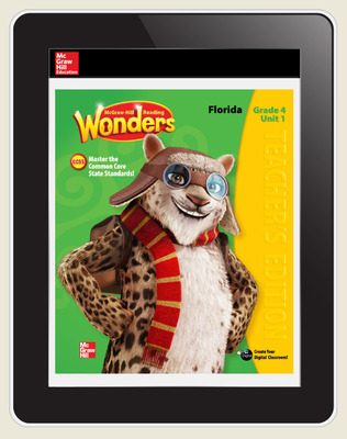 OKS Reading Wonders Florida Student Workspace 5 Year Subscription Grade 4