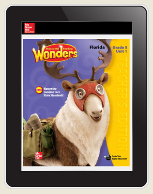 OKS Reading Wonders Florida Student Workspace 5 Year Subscription Grade 5