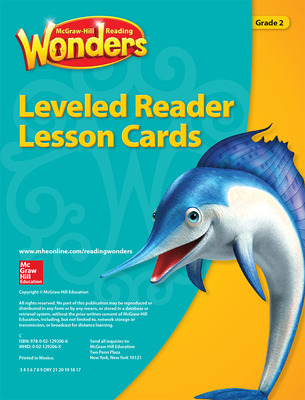 Reading Wonders Leveled Reader Lesson Cards Grade 2