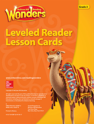 Reading Wonders Leveled Reader Lesson Cards Grade 3