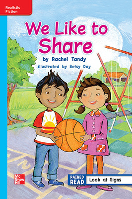 Reading Wonders, Grade 1, Leveled Reader We Like to Share, ELL, Unit 1, 6-Pack