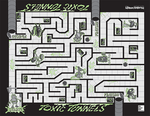 Number Worlds, Toxic Tunnels Board Game