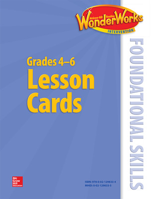 Reading Wonderworks Foundational Skills Lesson Cards Grade 4-6