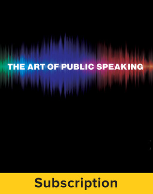 Lucas, The Art of Public Speaking, 2015, 12e, Student Bundle (Student Edition with ConnectED eBook) 1-year subscription