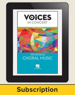 Hal Leonard Voices in Concert, L2 Tenor/Bass Choral Music 10 Student Seat Add-On, 4 Year Subscription
