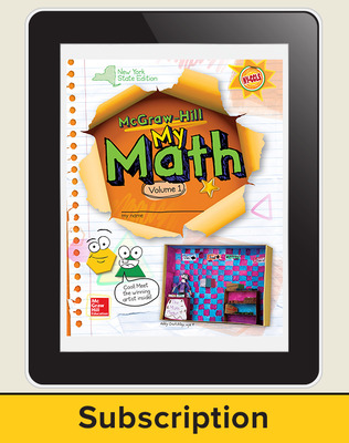 CUS New York My Math Grade 3 Student Online Edition 1 year subscription