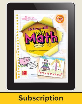 CUS New York My Math Grade K  Teacher Online Edition 1 year subscription