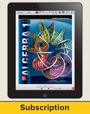 Glencoe Algebra 1, eStudent Edition, 8 year subscription