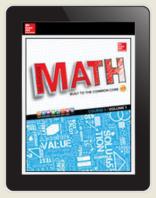 Glencoe Math, Course 1, eTeacher Edition online, 7-year subscription