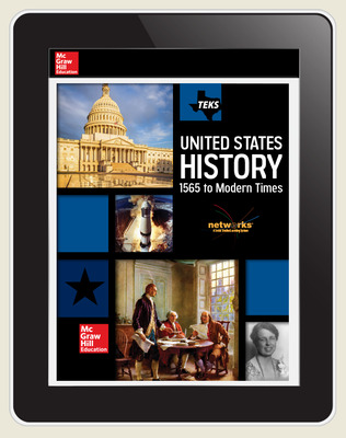 CUS US History Grade 5 Texas Edition, Student Learning Center, 8-year subscription