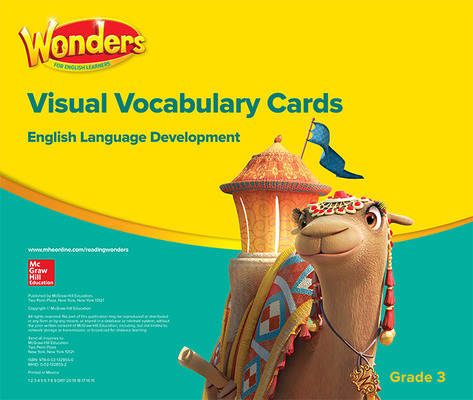 Wonders for English Learners G3 Visual Vocabulary Cards