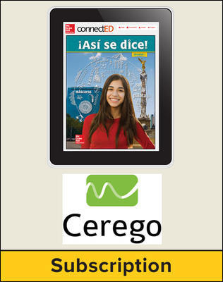 Asi se dice! Level 1, Student Embedded Add-On Cerego, 1-year subscription