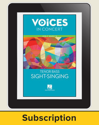 Hal Leonard Voices in Concert, L2 Tenor/Bass Sight-Singing 10 Student Seat Add-On, 7 Year Subscription