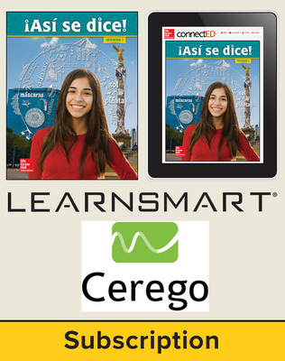 Asi se dice Level 1, Student Suite with LearnSmart + Cerego, 6-year subscription