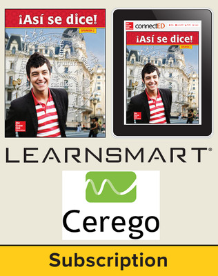 Asi se dice Level 2, Student Suite with LearnSmart + Cerego, 1-year subscription