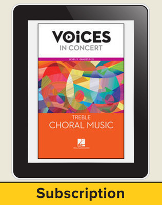 Hal Leonard Voices in Concert, L3 Treble Choral Music 10 Student Seat Add-On, 7 Year Subscription