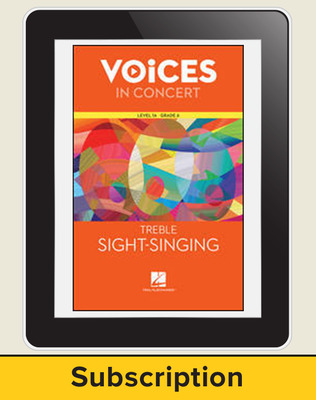 Hal Leonard Voices in Concert, L1A Treble Sight-Singing 10 Student Seat Add-On, 7 Year Subscription