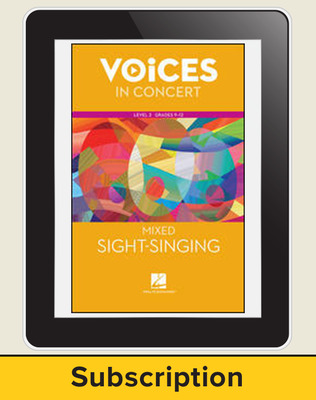 Hal Leonard Voices in Concert, L3 Mixed Sight-Singing 10 Student Seat Add-On, 8 Year Subscription