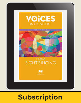 Hal Leonard Voices in Concert, L4 Mixed Sight-Singing 10 Student Seat Add-On, 8 Year Subscription