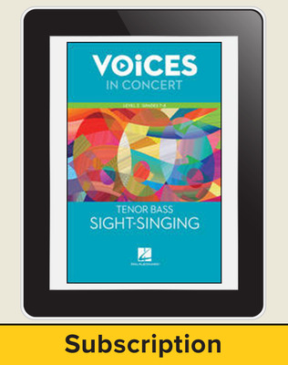 Hal Leonard Voices in Concert, L2 Tenor/Bass Sight-Singing 10 Student Seat Add-On, 4 Year Subscription