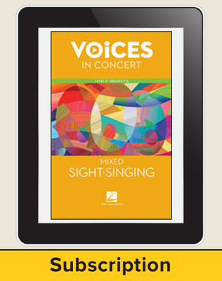 Hal Leonard Voices in Concert, Level 2: Mixed Sight-Singing Teacher Course, Grades 7-8, 1-Year