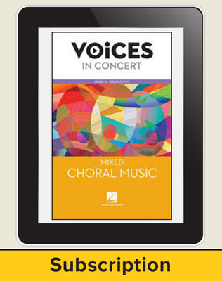 Hal Leonard Voices in Concert, Level 4: Mixed Choral Music Teacher Course, Grades 11-12, 6-Year