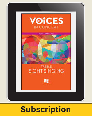 Hal Leonard Voices in Concert, L3 Treble Sight-Singing 10 Student Seat Add-On, 7 Year Subscription