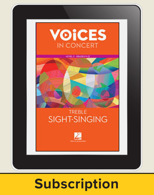 Hal Leonard Voices in Concert, Level 3: Treble Sight-Singing Teacher Course, Grades 9-12, 6-Year
