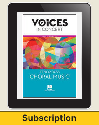 Hal Leonard Voices in Concert, L3 Tenor/Bass Choral Music 10 Student Seat Add-On, 6 Year Subscription