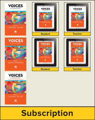 Hal Leonard Voices in Concert, Level 1B Treble Digital Bundle, 7 Year
