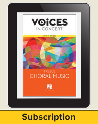 Hal Leonard Voices in Concert, Level 1A: Treble Sight-Singing Teacher Course, Grade 6, 6-Year