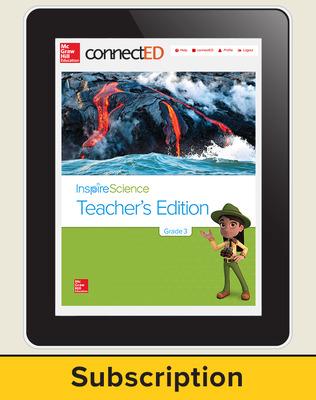 Inspire Science Grade 3, Online Teacher Center with Print Offline Teacher Support, Teacher Bundle 1-Year Subscription