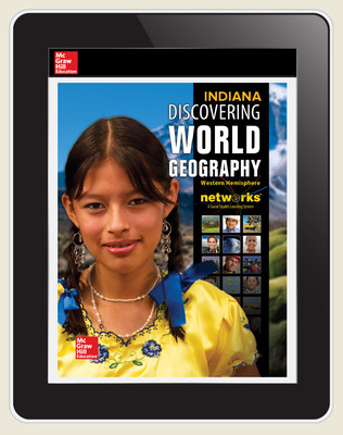 Discovering World Geography: Western Hemisphere, Indiana Student Learning Center, 1- year subscription