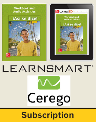 Asi se dice Level 3, Student Suite with LearnSmart + Cerego, 6-year subscription