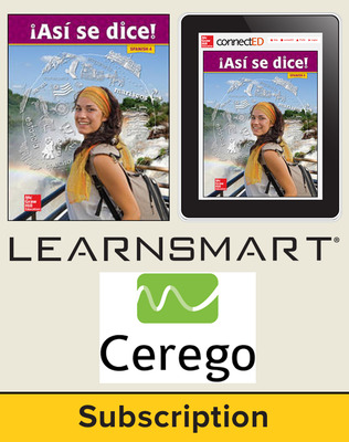 Asi se dice Level 4, Student Suite with LearnSmart + Cerego, 1-year subscription