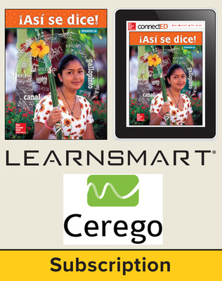 Asi se dice Level 1A, Student Suite with LearnSmart + Cerego, 6-year subscription