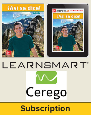 Asi se dice Level 1B, Student Suite with LearnSmart + Cerego, 1-year subscription