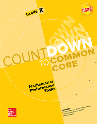 MH My Math Countdown to Common Core Grade K