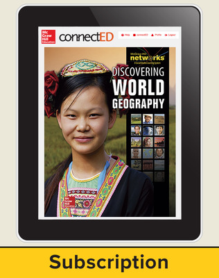 Discovering World Geography, Complete Classroom Set, Digital 1-Year Subscription