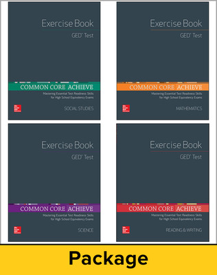 Common Core Achieve, GED Exercise Book 25 Copy Set
