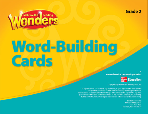 Reading Wonderworks Word-Building Cards (Small) Grade 2