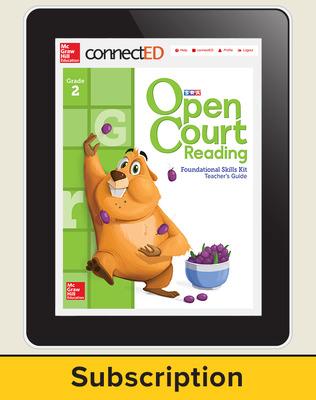 Open Court Reading Foundational Skills Kit Teacher License, 6-year subscription Grade 2
