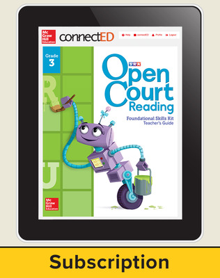 Open Court Reading Foundational Skills Kit Teacher License, 1-year subscription Grade 3