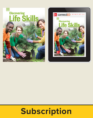 Glencoe Discovering Life Skills, Print Student Edition and Online SE Bundle, 1 year subscription