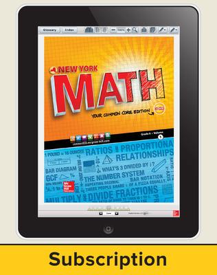 CUS Glencoe Math, Grade 8, online Student Edition, 1-year