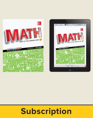 Glencoe Math, Course 2, Complete Student Bundle, 1-year subscription