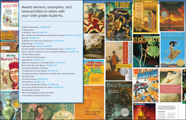 Wonders Classroom Trade Book Library Package, Grade 6