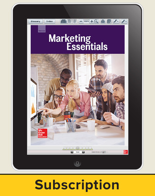 Glencoe Marketing Essentials, Online Student Edition, 6 year subscription
