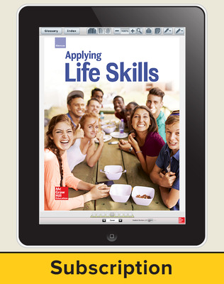 Glencoe Applying Life Skills, Online Student Edition, 6 year subscription